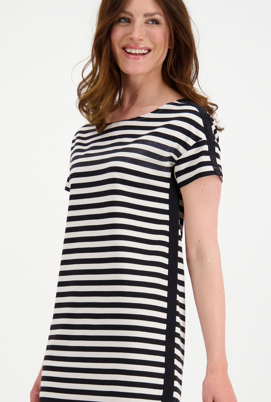Kleid Schwarz/Weiß gestreift | monari bei Mode Löning
