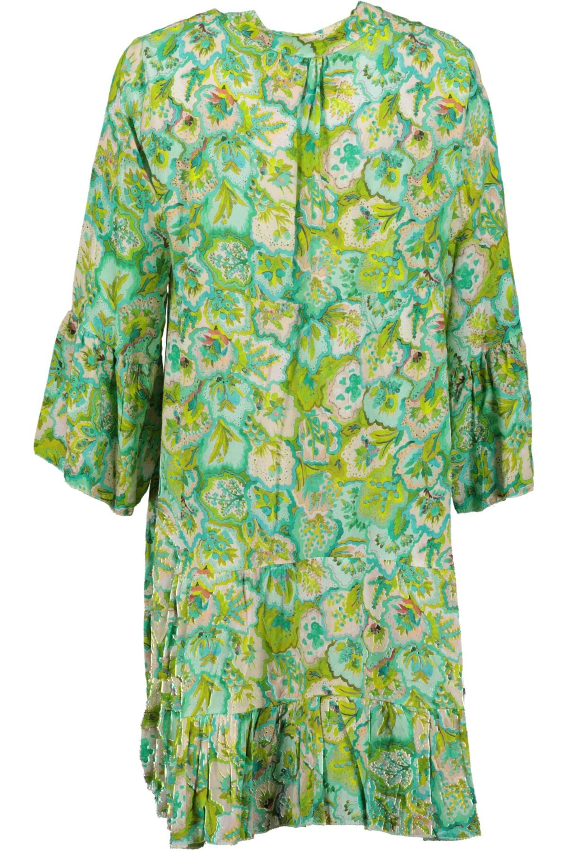 kleid mit blumen grün/blau   goose flash bei mode löning