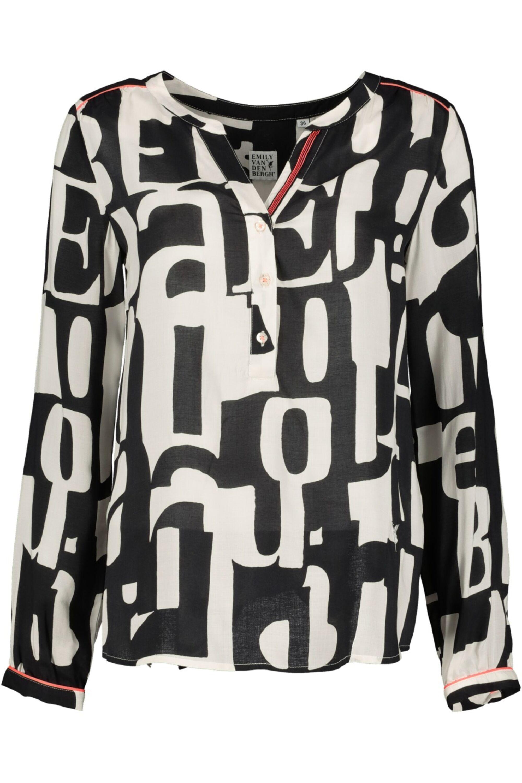 bluse mit buchstaben-print | emily bei mode löning